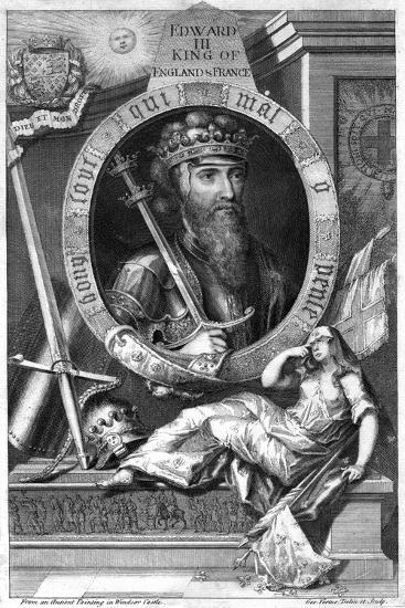 King Edward III of England, (18th Centur)-George Vertue-Giclee Print