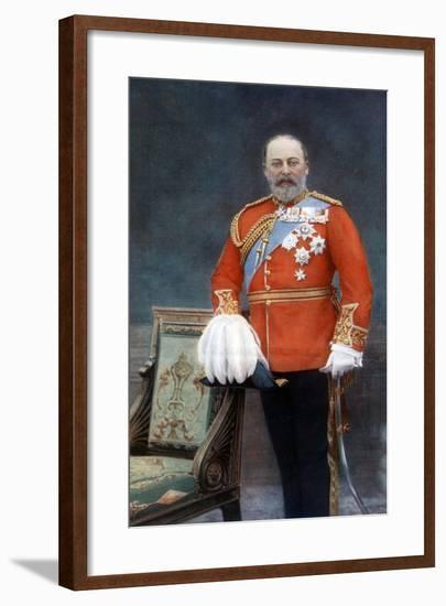 King Edward VII, Early 20th Century-W&d Downey-Framed Giclee Print