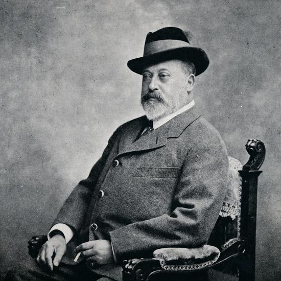 King Edward VII in a Tyrolean hat, 1903 (1911)-Unknown-Photographic Print