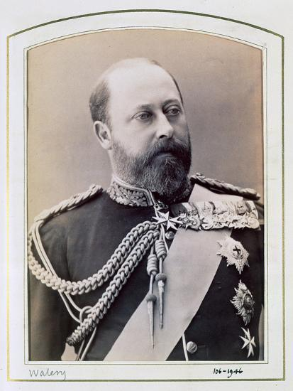 King Edward VII when Prince of Wales, c1884-1898-Walery-Photographic Print