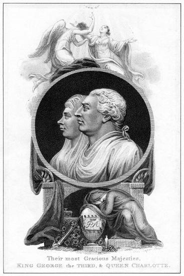 King George III and Queen Charlotte, 19th Century-Cooper-Giclee Print