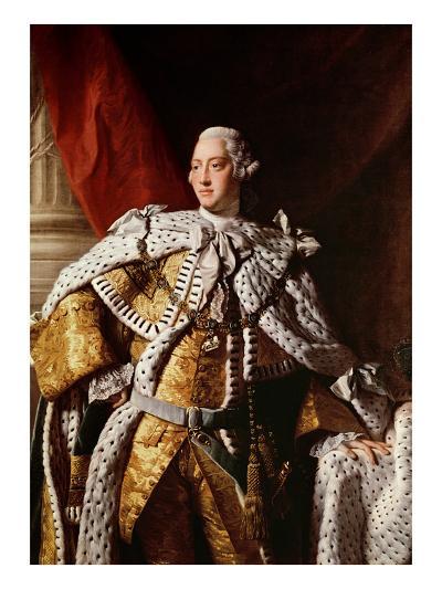 King George Iii, c.1762-64-Allan Ramsay-Giclee Print
