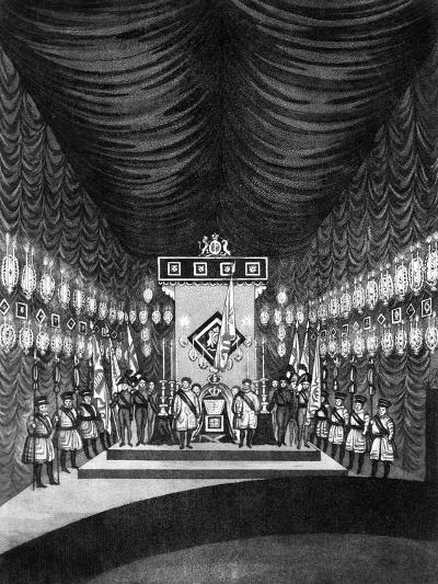 King George IV Lying in State in Windsor Castle, 1830--Giclee Print