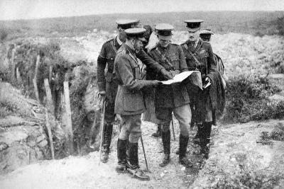 King George V (1865-193) at St George's Hill, Near Fricourt, 10th August 1916--Giclee Print