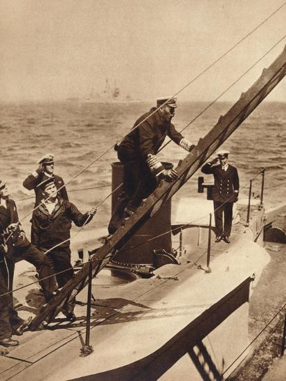 King George V afloat with his Navy, c1910s (1935)-Unknown-Photographic Print
