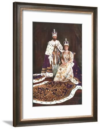 King George V and Queen Mary, 1911-W&D Downey-Framed Giclee Print