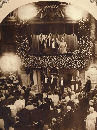 King George V and Queen Mary at a Royal Command Variety Performance, 1920s or 1930s-Unknown-Photographic Print