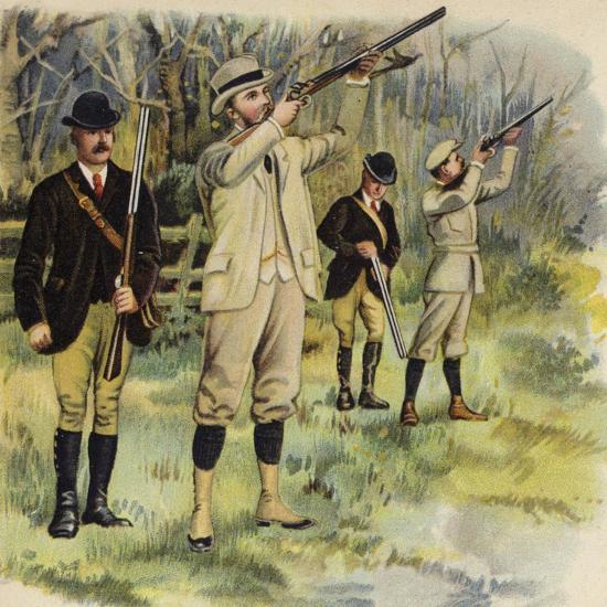 King George V as Prince of Wales, Shooting at Sandringham-Henry Payne-Giclee Print