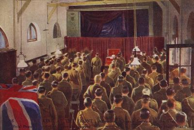 King George V Attending a Church Service with British Troops, World War I--Photographic Print