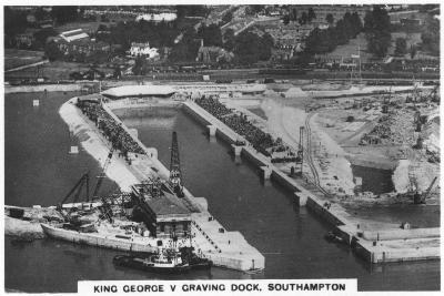 King George V Graving Dock, Southhampton, 1936--Giclee Print