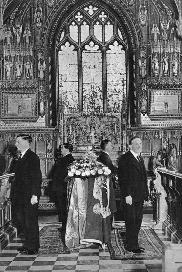 King George V Lying in State, Church of St Mary Magdalene, Sandringham, Norfolk, January 1936--Giclee Print