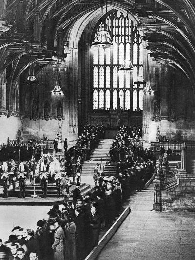 King George V Lying in State in Westminster Hall, London, January 1936--Giclee Print