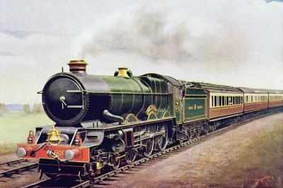 'King George V' of the G.W.R Cornish Railway Express, Illustration from 'The Wonder Book of?-English School-Giclee Print