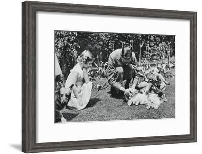 King George VI and Princess Margaret Rose, 1937-Michael Chance-Framed Giclee Print