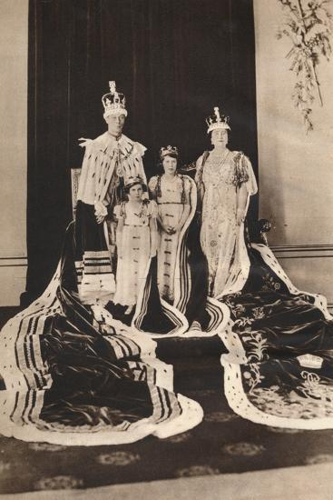 King George Vi and Queen Elizabeth on their Coronation Day, 1937--Photographic Print