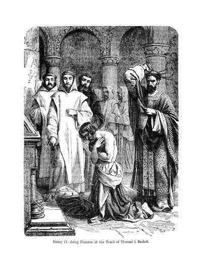 King Henry II Doing Penance at the Tomb of Thomas a Becket, Canterbury Cathedral--Giclee Print