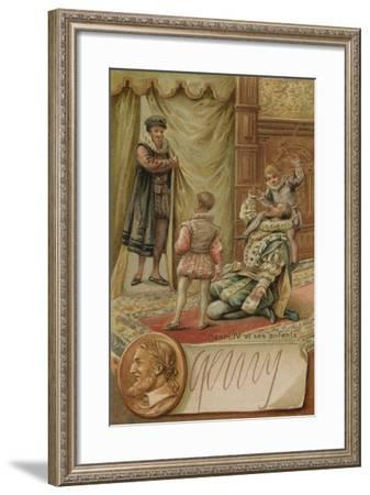 King Henry IV of France with His Children--Framed Giclee Print