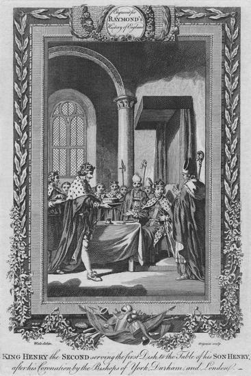 'King Henry the Second serving the first Dish to the Table of his Son', c1787-Unknown-Giclee Print