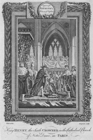 'King Henry the Sixth Crowned in the Cathedral Church of Notre Dame, in Paris', c1787-Unknown-Giclee Print