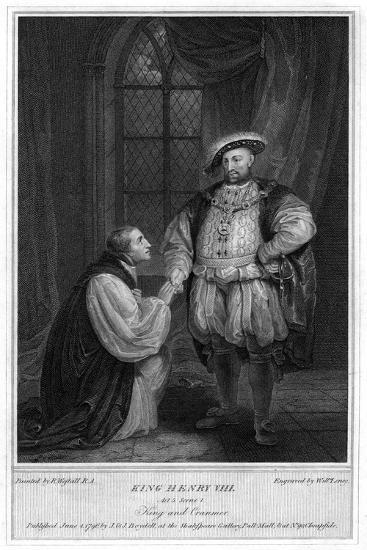 King Henry VIII (1491-154) and Thomas Cranmer (1489-155), 1796-William Satchwell Leney-Giclee Print