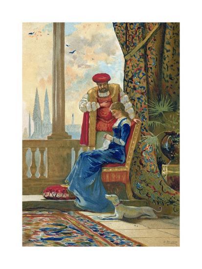 King Henry VIII and Ann Boleyn-Dionisio Baixeras-Verdaguer-Giclee Print