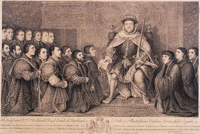 King Henry VIII Surrounded by Kneeling Figures, 1736-Bernard Baron-Giclee Print