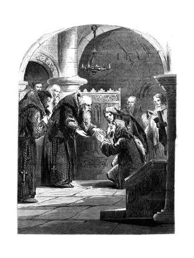 King James II at the Abbey of La Trappe, France--Giclee Print