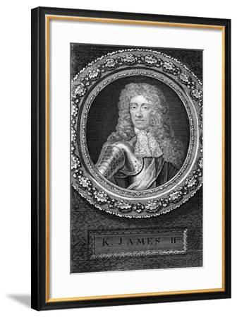 King James II of England-George Vertue-Framed Giclee Print