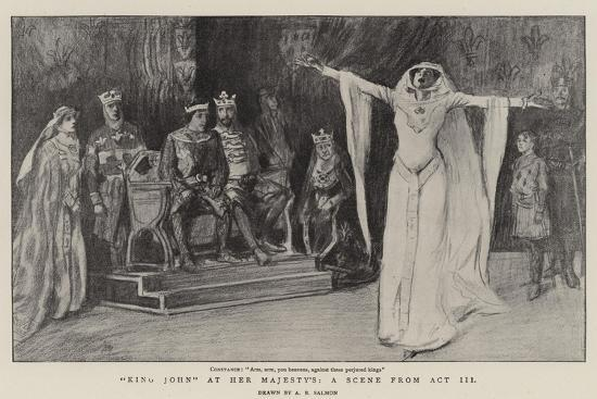 King John at Her Majesty'S, a Scene from Act III--Giclee Print