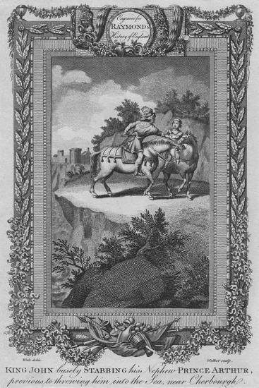 'King John basely Stabbing his Nephew Prince Arthur, previous to throwing him into the Sea', c1787-Unknown-Giclee Print