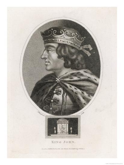 King John of England Reigned: 1199-1216 Son of Henry II-J^ Chapman-Giclee Print