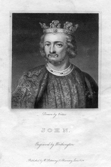 King John of England- Worthington-Giclee Print