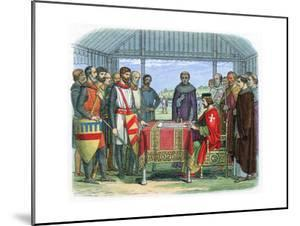 King John Signing the Magna Carta at Runnymede, Surrey, 15 June 1215