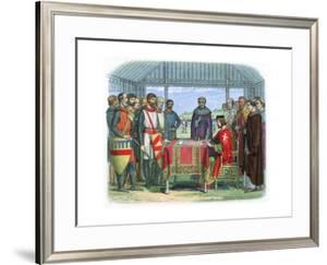 King John Signing the Magna Carta at Runnymede, Surrey, 15 June 1215