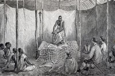 King Kamrasi, Uganda, Engraving from Source of Nile, Diary of Voyage of Captain John Hanning Speke--Giclee Print