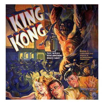 King Kong, Fay Wray, Robert Armstrong, Bruce Cabot, 1933--Photo