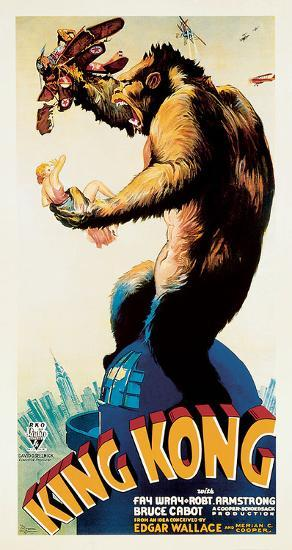 King Kong – Profile-Unknown-Oversized Art Print