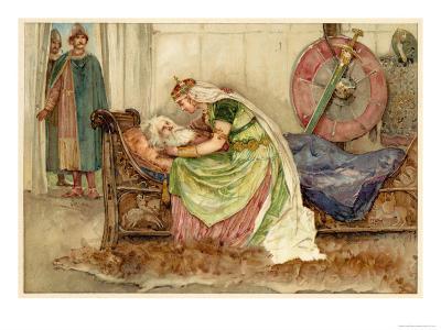 King Lear, Act IV Scene VII: Cordelia to Lear--Giclee Print