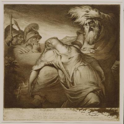 King Lear and Cordelia, 1776 (Etching and Aquatint with India Ink)-James Barry-Giclee Print