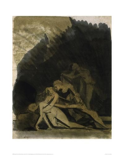King Lear and the Dead Cordelia-Henry Fuseli-Giclee Print