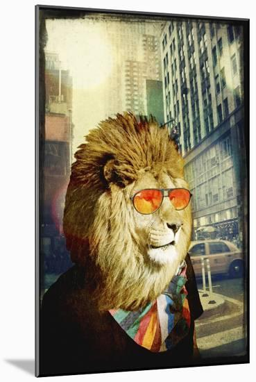 King Lion of the Urban Jungle-GI ArtLab-Mounted Premium Giclee Print