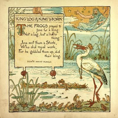 King Log and King's Stork--Giclee Print
