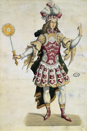 King Louis XIV in Ball Dress, France, 1660--Giclee Print