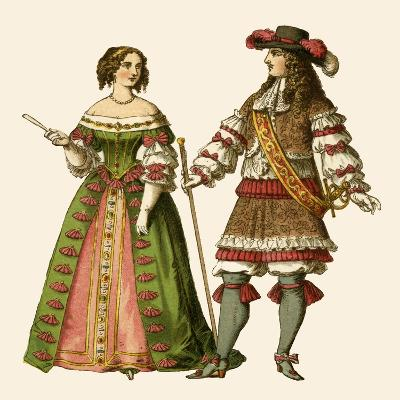 King Louis XIV of France and Maria Theresa Queen of France-Albert Kretschmer-Giclee Print