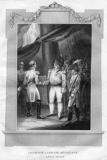King Louis XVIII of France (1755-182) Landing at Calais, April 1814-I Romney-Giclee Print