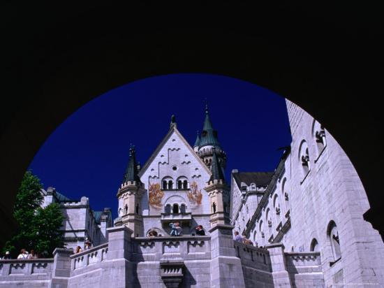 King Ludwig II's Neuschwanstein Castle, Fussen, Bavaria, Germany-Johnson Dennis-Photographic Print