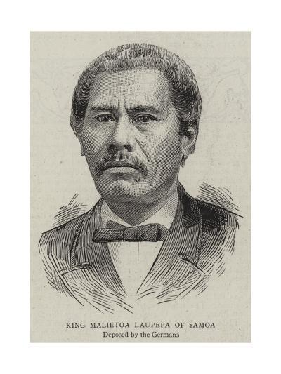 King Malietoa Laupepa of Samoa--Giclee Print