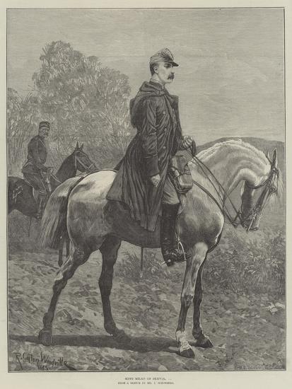 King Milan of Servia-Richard Caton Woodville II-Giclee Print