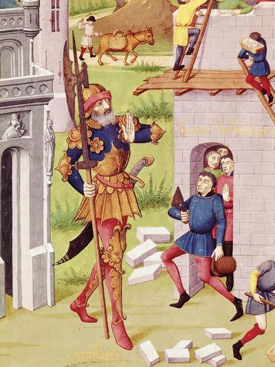 King Nebuchadnezzar, Miniature from Chronicles of Bouquechardiere, 1450--Giclee Print