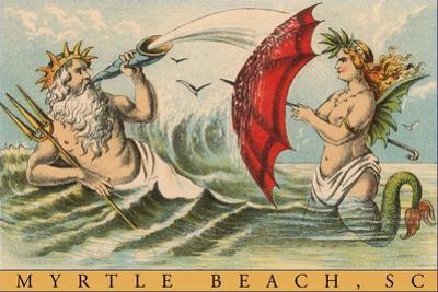 King Neptune with Mermaid, Myrtle Beach